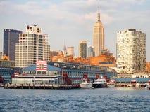 Widok Miasto Nowy Jork od hudsonu Obrazy Royalty Free