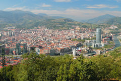 Widok miasto od above bilbao Hiszpanii obrazy stock