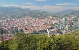 Widok miasto od above bilbao Hiszpanii fotografia stock