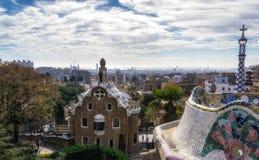 Widok miasto od centrala tarasu Fotografia Royalty Free