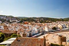 Widok miasto od ścian forteca Obrazy Royalty Free