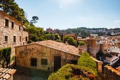 Widok miasto od ścian forteca Obraz Royalty Free