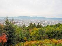 Widok miasto od hil zdjęcie royalty free