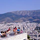 Widok miasto od Lycabettus wzgórza, Grecja, Ateny Fotografia Royalty Free