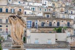 Widok miasto odrobiny od San Pietro kościół Obrazy Royalty Free