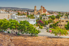 Widok miasto Paphos, Cypr fotografia stock