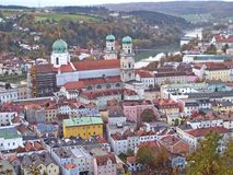 Widok miasto Passau, Niemcy obraz royalty free