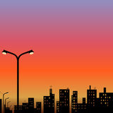 Widok miasto przy nocą Fotografia Stock