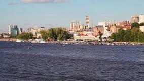Widok miasto Samara zbiory wideo
