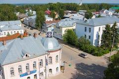 Widok miasto siedziba Święty Mikołaj i stary miasteczko Veliky Ustyug, Vologda region obraz royalty free