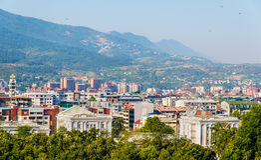 Widok miasto Skopje Fotografia Stock