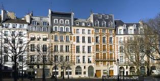 Widok miejsce Dauphine w Paryż obraz stock