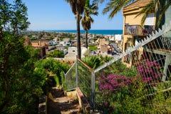 Widok mieszkania w Cullera, Hiszpania Zdjęcie Stock