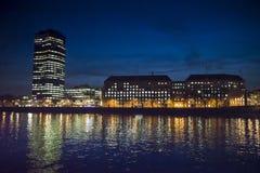 Widok Millbank wierza przy nocą, Londyn, UK fotografia royalty free