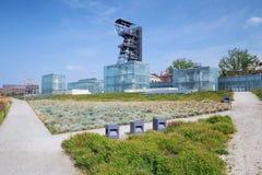Widok mineshaft, Katowicki w Polska/ obraz royalty free