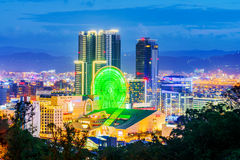 Widok Miramar rozrywki Parkowy i Nowy Taipei Obraz Stock