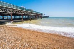 Widok mola nowi inHastings, Wschodni Sussex UK Obraz Royalty Free