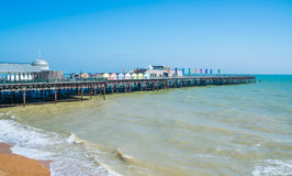 Widok mola nowi inHastings, Wschodni Sussex UK Zdjęcia Stock