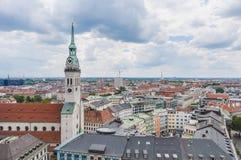 Widok Monachium jak widzieć od Neues Rathaus wierza Obrazy Royalty Free