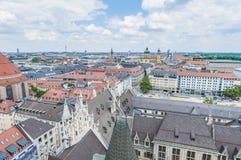 Widok Monachium od Neues Rathaus wierza Obraz Stock