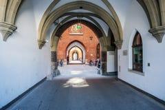 Widok Monachium urząd miasta od Marienhof kwadrata Fotografia Royalty Free