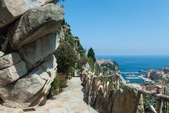 Widok Monte, Carlo i morze śródziemnomorskie - Fotografia Stock