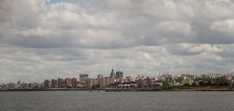 Widok Montevideo od Punta Brava latarni morskiej w Urugwaj Fotografia Stock