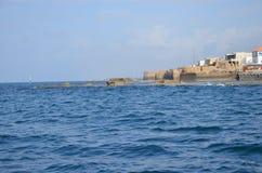 Widok morze antyczny miasto Izrael - akr Zdjęcia Stock