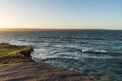 Widok morze bałtyckie, końcówka droga Fotografia Stock