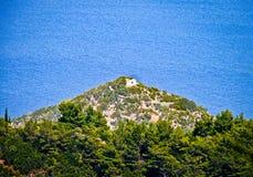 Widok morze egejskie GRECJA - SAMOS wyspa - zdjęcia stock