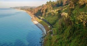 Widok morze i przylądek fotografia royalty free