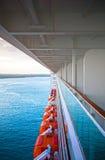 Widok morze karaibskie od pokładu statek wycieczkowy Obraz Stock