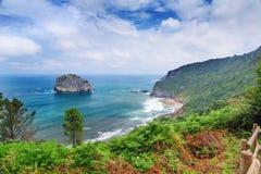 Widok morze od wysokiego wybrzeża fotografia royalty free