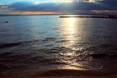Widok morze przed burzą Fotografia Stock