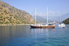 Widok morze śródziemnomorskie w Turcja obrazy royalty free