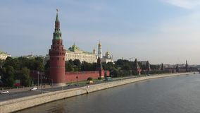 Widok Moskwa Kremlin i Kremlowski bulwar, Pogodny Września ranek moscow zbiory wideo