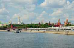 Widok Moskwa Kremlin od Moskwa rzeki Obraz Royalty Free