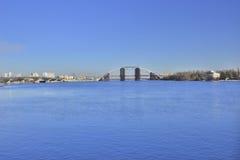 Widok most w budowie przez Zaporoskiego obrazy royalty free