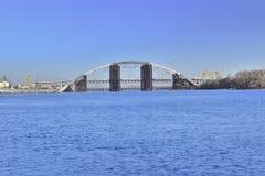 Widok most w budowie przez Zaporoskiego zdjęcie royalty free