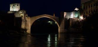 Widok Mostar most w Bośnia i Herzigovina obraz royalty free