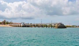 Widok Mozambik wyspa zdjęcie stock