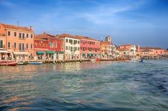 Widok Murano wyspa, mała wyspa wśrodku Wenecja Venezia terenu, sławnego dla swój szklanej produkci , Włochy zdjęcia stock