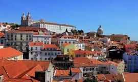 Widok na Alfama okręgu na Igreja De São Vincente de Dla A wewnątrz w Lisbon i, Portugalia zdjęcie stock