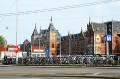 Widok na Amsterdam Centraal fotografia stock