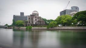 Widok na atomowej bomby kopule w Hiroszima Japonia obraz royalty free