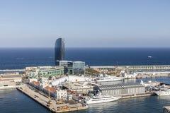 Widok na Barcelona porcie Zdjęcia Stock