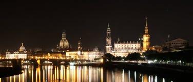 Widok na barokowej linii horyzontu miasto Dresden obrazy stock