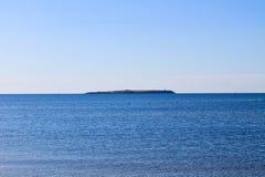 Widok na Berezan wyspie w Czarnym morzu Obrazy Stock