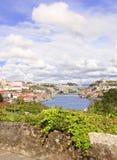 Widok na Bridżowej Maria Douro i Pia rzece, Porto, Portugalia fotografia royalty free