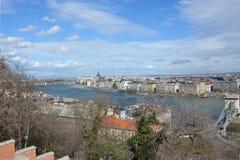 Widok na Budapest z rzecznym Danube od pałac fotografia royalty free